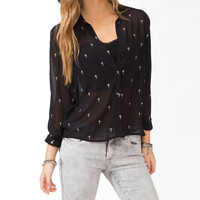 Metallic Cross Shirt