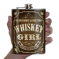 Whiskey Girl Flask by Trixie and Milo