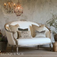 Versailles Canape Sofa in Antique Silver