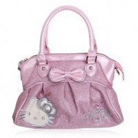 Faddish Hello Kitty Glisten Handbag/Aslant Bag with Adjustable Diagonal Band (Pink) China Wholesale - Sammydress.com