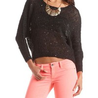 Sequin Hacci Hi-Low Sweater: Charlotte Russe