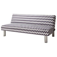 Pattern Chevron Futon - Grey & White