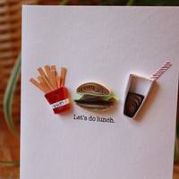 Let&#x27;s do Lunch Quilled Card by SweetSpotCardShop on Etsy
