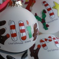 Personalized Christmas Ornament Hand by GingerbreadGirlShop