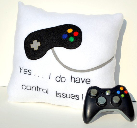 Game Controller Pillow by YellowBugBoutique on Etsy