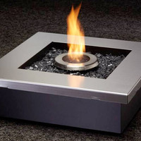 Peace Personal Fireplace, Real Flame Burns Clean Suitable for Indoors or Entertaining - Pure Modern Design Contemporary Accessories