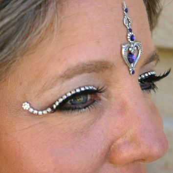 Jeweled False Eyelashes by theeyeshaveit on Etsy