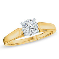 0.20 CT Diamond Solitaire Crown Royal Engagement Ring in 14K Gold (I-J/I2) - Peoples Jewellers 0.20 CT Diamond Solitaire Crown Royal Engagement Ring in 14K Gold (I-J/I2) - - View All Rings - Peoples Jewellers
