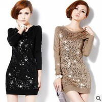 Sequins mercerized cotton sweater zzs0017
