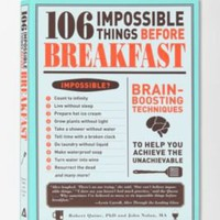 UrbanOutfitters.com > 106 Impossible Things Before Breakfast By Robert Quine & John Nolan