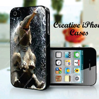 Happy Elephant - iPhone 4 Case, iPhone 4S Case, iPhone 4 Cover
