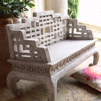 Asian Maze Back Bench - Horchow