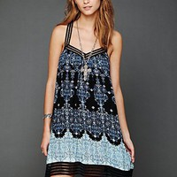Free People Printed Voile Lace Slip
