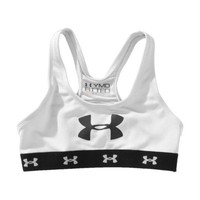 Girls' Mesh Sports Bra Tops by Under Armour Youth Medium White