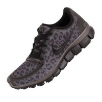Nike Wmns Free 5.0 V4 Leopard - Dark Grey (511281-013) (5 B(M) US): Shoes