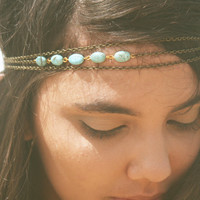 Chain Headpiece Headband Bohemian Hipster Boho by FunnyPeopleCo