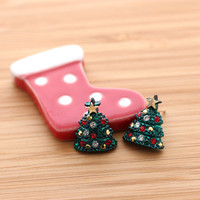 CHRISTMAS TREE stud earrings | girlsluv.it