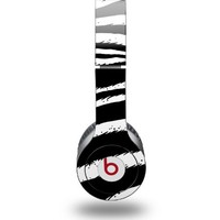 Zebra Decal Style Skin (fits Beats Solo HD Headphones)