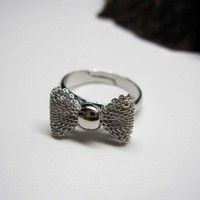 Supermarket: Silver Bow Ring from Diament Jewelry