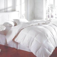 Bedding White Feather Down Bed Comforter - King Size