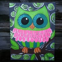 Canvas Painting - Owl