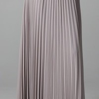 Halston Heritage Long Pleated Skirt