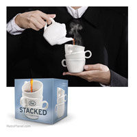 Stacked Cup Novelty Coffee Mugs RetroPlanet.com