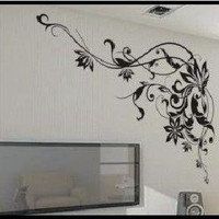 Vine Frame  Wall Decals Stickers Appliques Home Decor wall sticker wall decal