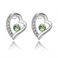 Fashion Crystal Heart Earrings HYC0014 - $7.10