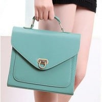 Wholesale Pure Color Multipurpose High Quality PU Bag Green
