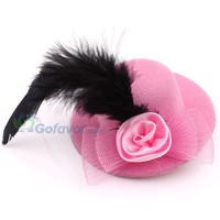 Fashion Fabric Hat&Feather Hair Barrette at Online Cheap Fashion Jewelry Store Gofavor