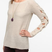 Urban Outfitters - Sparkle & Fade Braided Arm Sweater