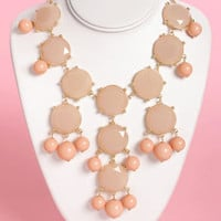 Georgia Peach Statement Necklace