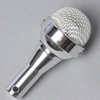 The Microphone MP3 Speaker in Silver