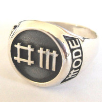 Solid Sterling Silver 925 Depeche Mode Band Logo Ring