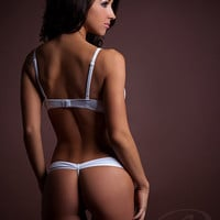 "Beautiful Lace Lingerie Panty features ""Bow-Butt"" backside"