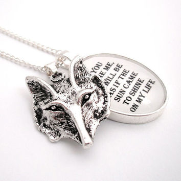 The Tame Fox Silver Pendant Necklace The by thelittlechickadee