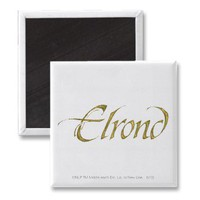 Elrond Name Textured Magnet