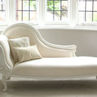 Classical White Chaise Longue - Sweetpea &amp; Willow London