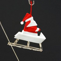 Origami Santa in Sleigh Ornament - The Afternoon