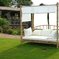 Bamboo Day Bed With Cushion - Sweetpea &amp; Willow London