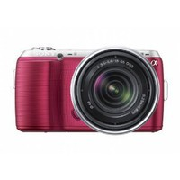 Amazon.com: Sony Alpha NEX-C3 16 MP Compact Interchangeable Lens Digital Camera Kit with 18-55mm Zoom Lens (Pink): Camera & Photo