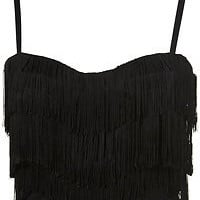 Topshop Fringe Corset Top UK 10
