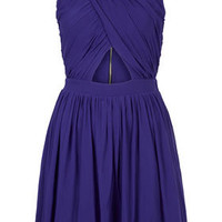 Wrap Mesh Ruche Skater Dress - New In This Week  - New In