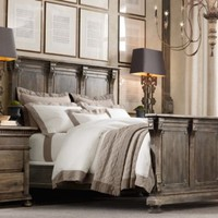St. James Panel Bed Antiqued Coffee | Metal Beds | Restoration Hardware