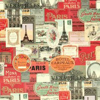 cavallini &amp; co paris labels designer decorative gift wrap paper NEW!
