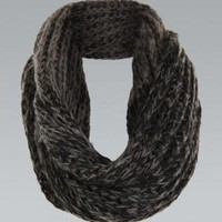 Black Knit Circle Scarf