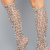 The Leopard Print Trouser Knee High Sock : *The Extras : Karmaloop.com - Global Concrete Culture