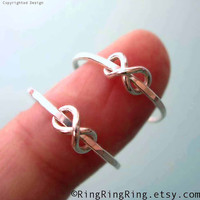 925 Simple Infinity rings - Set of 2, Sterling silver ring jewelry, Promise rings, for girlfriend  123112