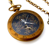 Steampunk Pocket Watch The Ancient Sorcerer by OWLandHOURGLASS